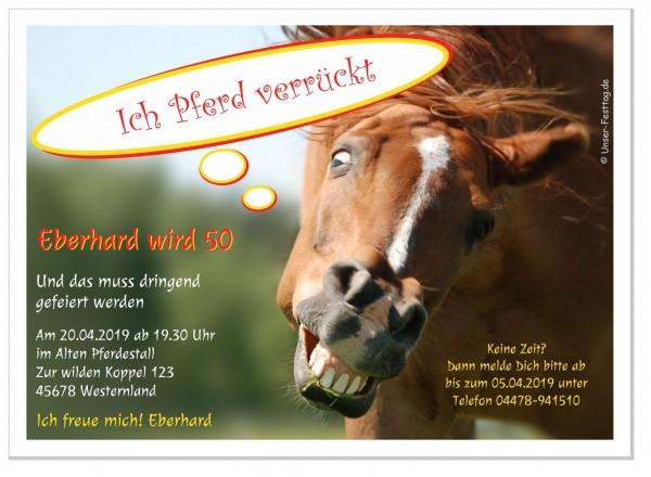 Lustige Geburtstagseinladung Pferd Erwachsene