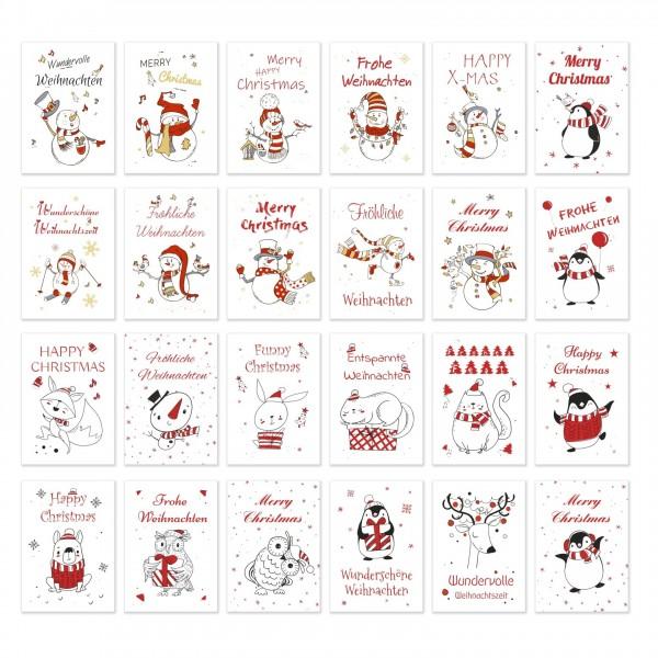 Weihnachtspostkarten 24 Stueck Weihnachten 2020