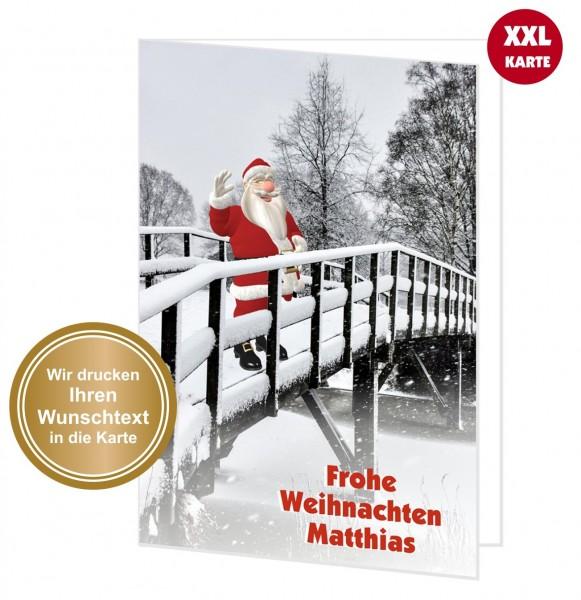 Xxl Weihnachtskarte Design Weihnachtsmann