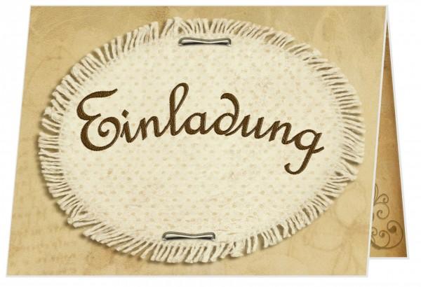 Einladungskarten Runder Geburtstag Stickerei