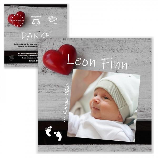 Ausgefallene Geburtskarten Dankeskarten Baby Herz