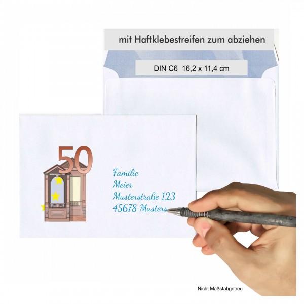 Briefumschlag Neuer 50er Geburtstag