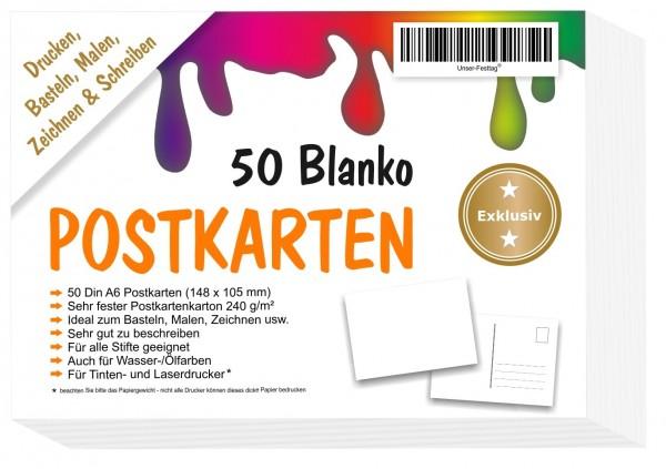 Blanko Postkarten A6 148x105mm