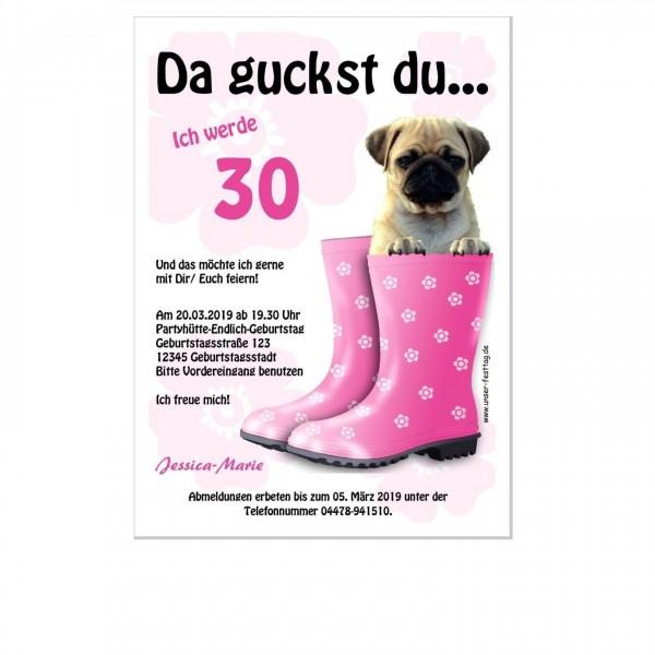 Einladungskarte Zum Geburtstag Hund Lustig