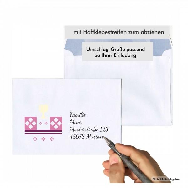 Briefumschlag Kommunion Schoen Mädchen