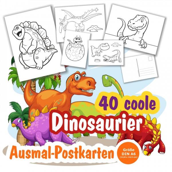 Ausmalbilder Malbilder Dinosaurier Als Postkarte Verschicken