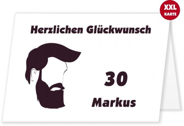 Glückwunschkarte Für Männer Mit Bart Alter Ändern