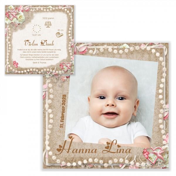 Mega Süße Geburtskarten Mädchen Perlen Schatz