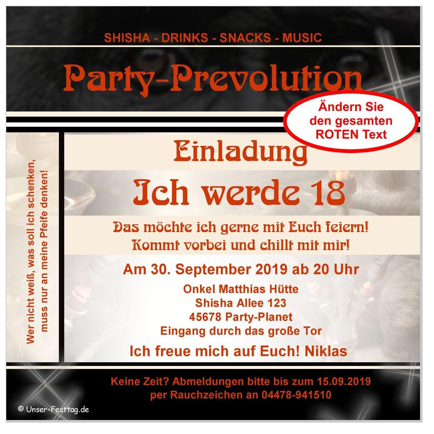 Trendige Einladung Zur Party Zum 30 Geburtstag