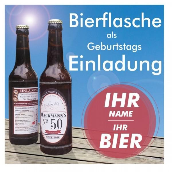 geburtstagseinladung bierflasche etikett lustig