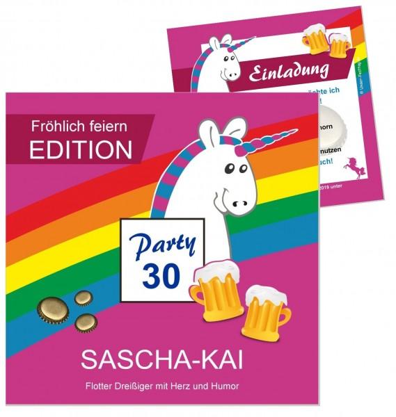 Einladungskarten mit Einhorn Geburtstag