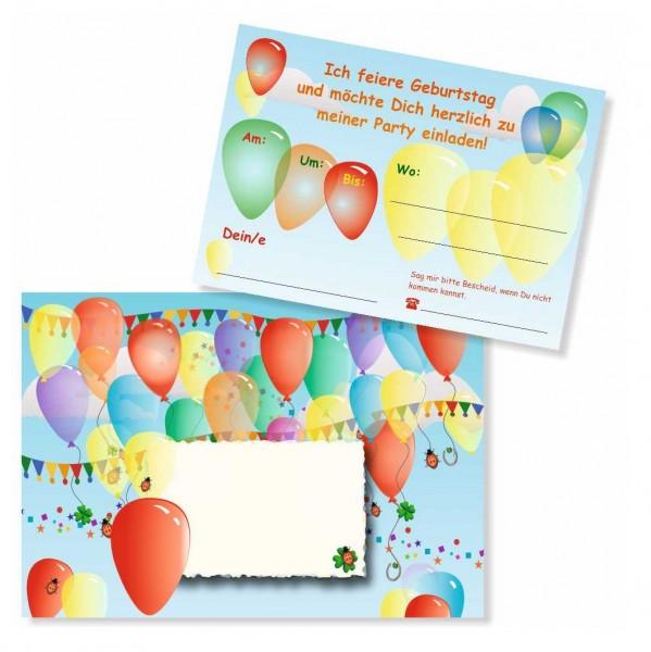 Kindergeburtstag Einladung Bunte Luftballons