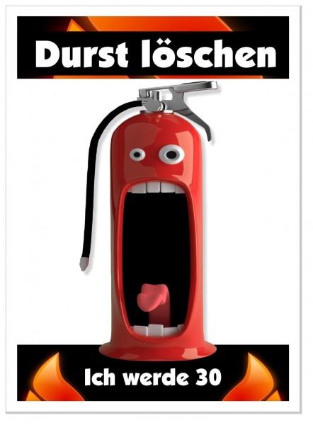 Einladungskarten Feuerwehr Durst Löschen
