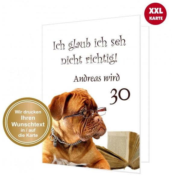 Glückwunschkarte Geburtstag Lustig Hund