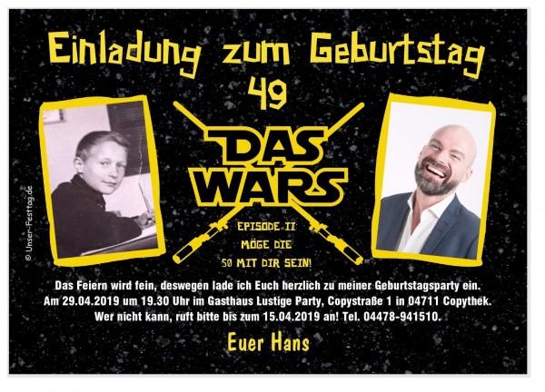 Geburtstagseinladung Das Wars Foto