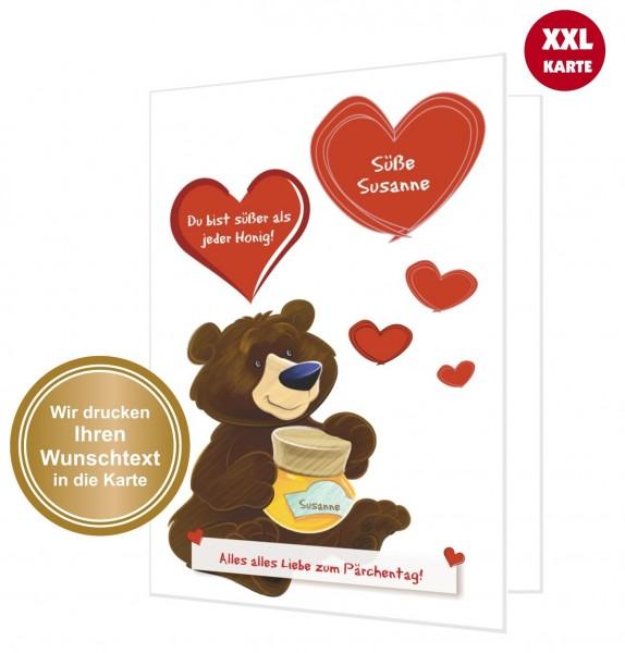 Xxl Glückwunschkarte Honigbär Süß