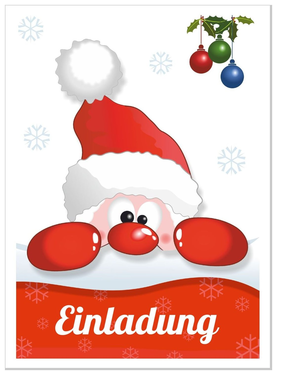 Einladung Weihnachtsfeier Lustiger Text.Einladungskarte Lustiger Nikolaus