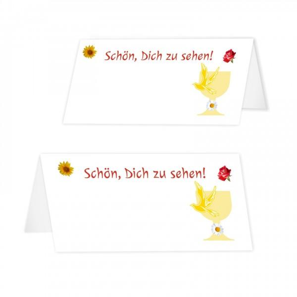 Tischkarten Zur Kommunion Blumenmeer Maedchen