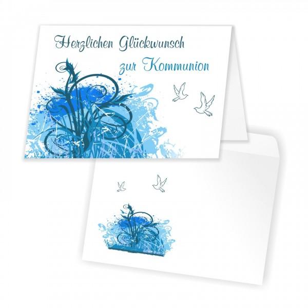 Kommunionskarten Glückwunschkarten Kringel Mit Umschlag