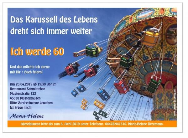 Einladung Sechzigster Geburtstag Karussell