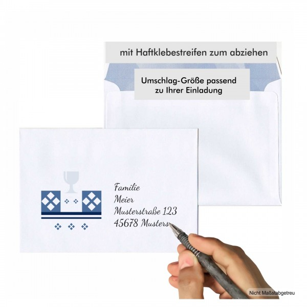 Erstkommunion Umschlag Bedruckt Beschriften