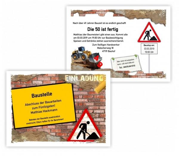 amazing einladungskarten richtfest #1: Einladung Maurer Baustelle