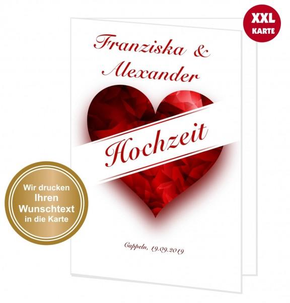 Ideen F303274r Weihnachtskarten.Xxl Gluckwunschkarte Hochzeit Grosses Herz