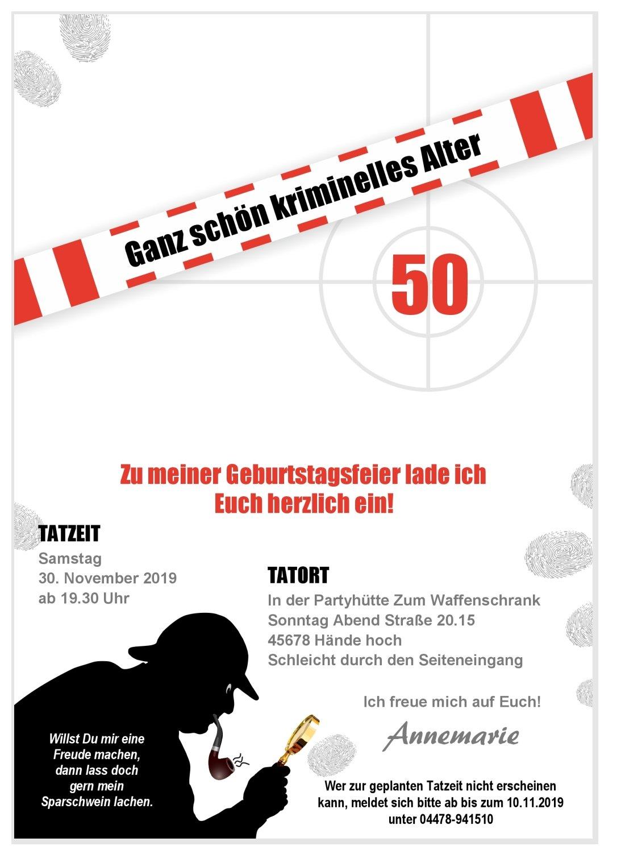 10 Klappkarten Tatort Party Mit Messer