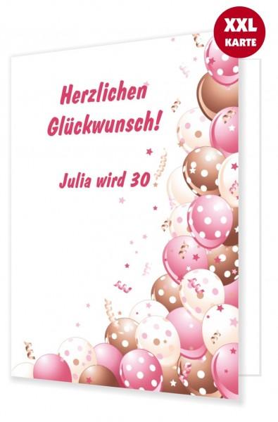 Originelle Extra Grosse Geburtstagskarte Luftballons