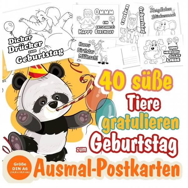 Glueckwünsche Zum Geburtstag Gratulieren Postkarten
