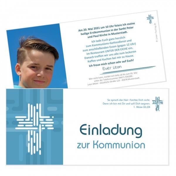 Ausgefallene Einladungskarten Zur Kommunion Jungs
