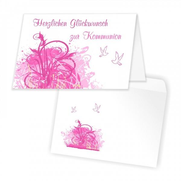 Tolles Glückwunschkarten Set Kommunion Maedchen