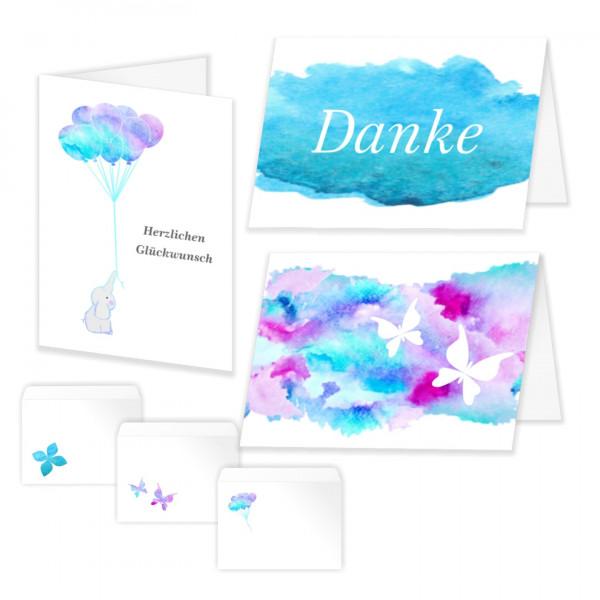 Dankeskarten Glückwunschkarte Verschiedene Mit Umschlag
