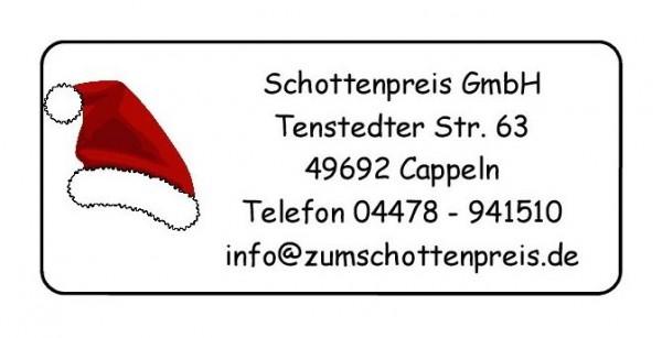 Weihnachtsmütze Nikolaus Adresse