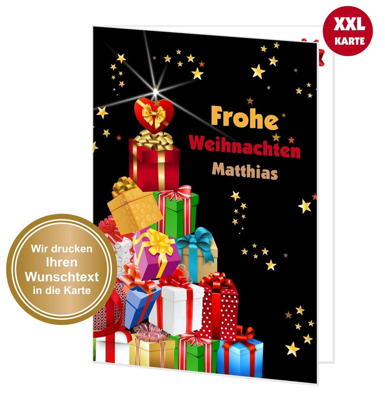 XXL Weihnachtskarte Bunter Geschenkebaum