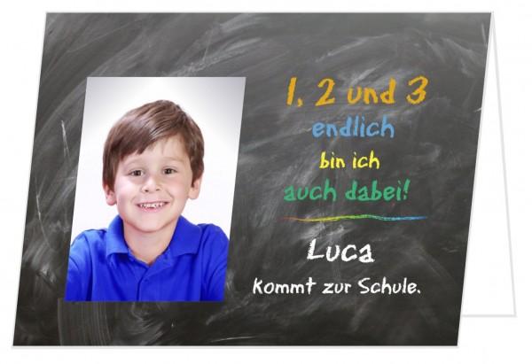 Einladungskarte Einschulung Foto Junge
