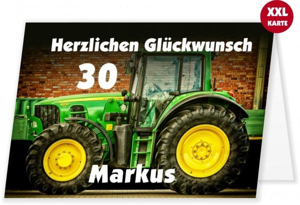 Glueckwunschkarte Mit Traktor Trecker Geburtstag