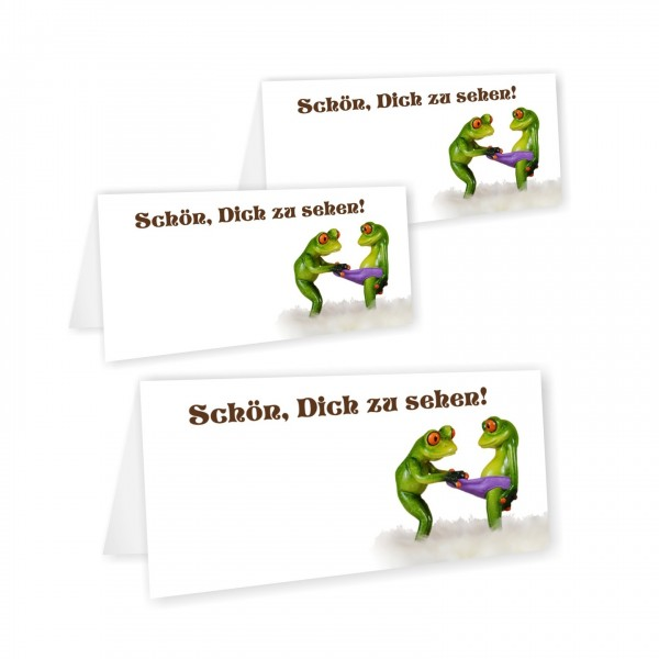 Lustige Tischkarte Motiv Frosch Hose