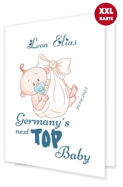 Karte Zur Geburt Junge Baby Gratulieren
