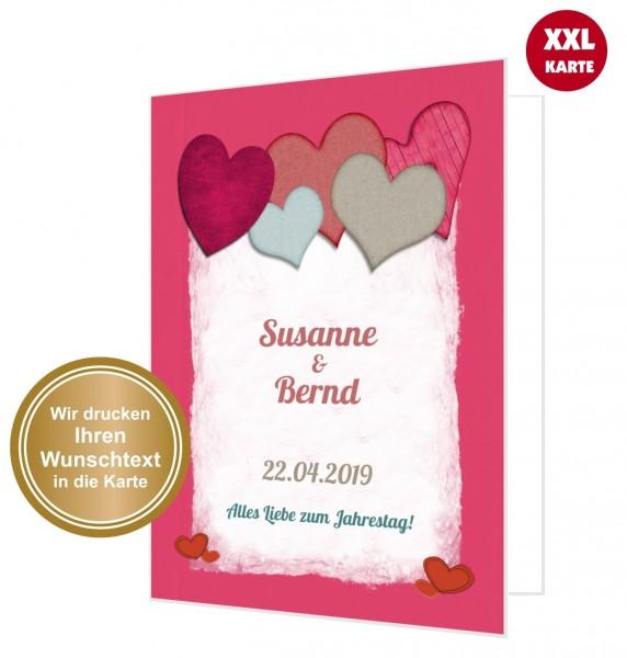 Xxl Glückwunschkarte Liebe Herzen