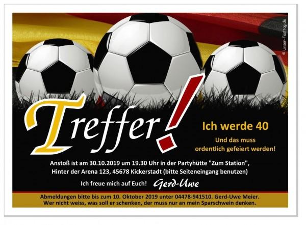 Geburtstagseinladung Fussball Weltmeisterschaft