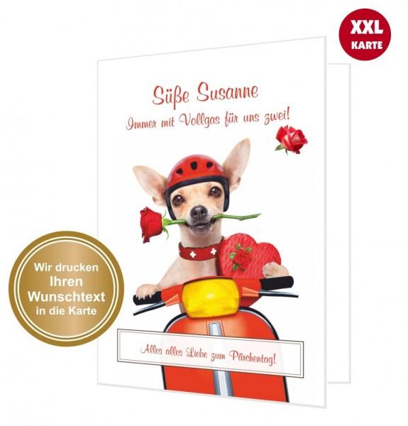 Xxl Glückwunschkarte Verliebte Hund
