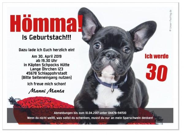 Geburtstagseinladung Lustiger Hund Hömma