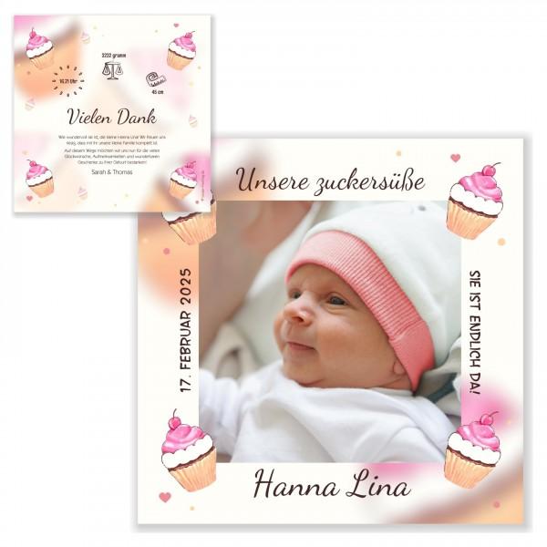 Geburtskarten Dankeskarten Text Zuckersüss Mädchen