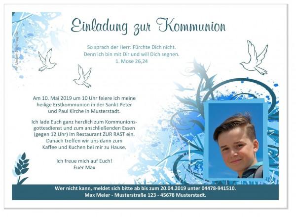 Einladungskarten Kommunion Jungs Kringel