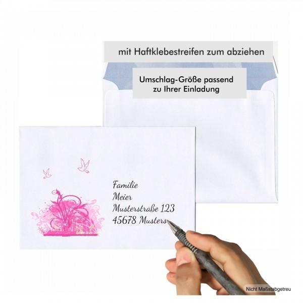 Umschläge Kommunion Einladung Bedruckt