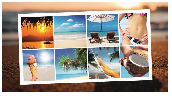 Xxl Postkarte Collage Urlaub Sommer Strand