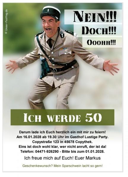Einladungskarten 50. Geburtstag Originell Text