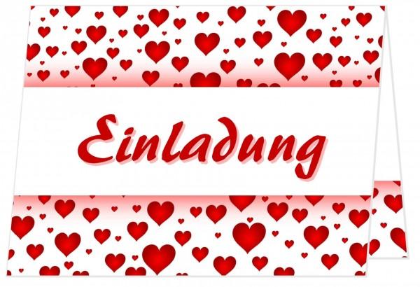 Schöne Geburtstagseinladung Rote Herzen