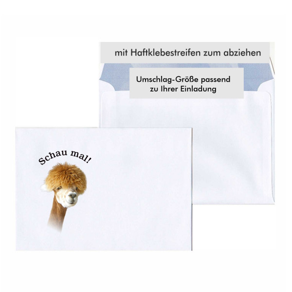 Umschlag Motiv Lama Lustig